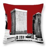 Tucson Skyline 1 - Dark Red Throw Pillow