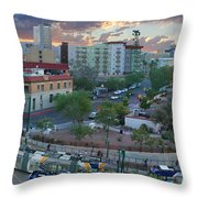 Tucson Streetcar Sunset Throw Pillow