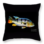 Tucunare-peacock Bass Throw Pillow