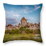 Tufa And Clouds Throw Pillow