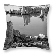 Tufa In Black And White Throw Pillow