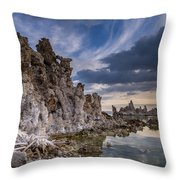 Tufas And Clouds Throw Pillow