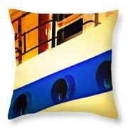 Tug Abstract Throw Pillow