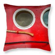 Tug Boat Eyes Throw Pillow