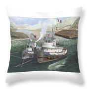 Gale Warning Safe Harbor Throw Pillow