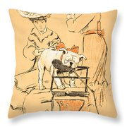 Tug Of War Throw Pillow by Cecil Charles Windsor Aldin