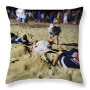 Mid-atlantic Lifeguard Competition - Tug Of War  Throw Pillow
