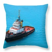 Tugboat At The Ready Throw Pillow