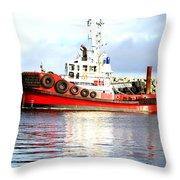 Tugboat Captain Throw Pillow