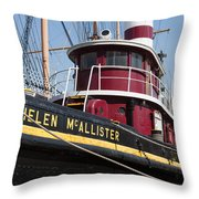 Tugboat Helen Mcallister Throw Pillow