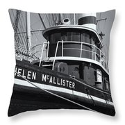 Tugboat Helen Mcallister II Throw Pillow