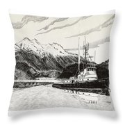 Skagit Chief Tugboat Throw Pillow
