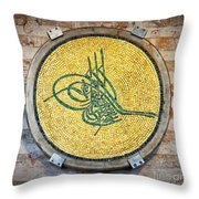 Tughra Symbol 02 Throw Pillow