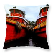Tugs Throw Pillow