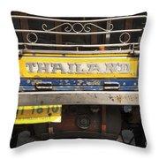 Tuk Tuk Taxi In Bangkok Thailand Throw Pillow