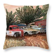 Tularosa Motors Throw Pillow