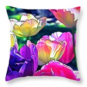 Tulip 10 Throw Pillow