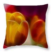Tulip-7016-fractal Throw Pillow
