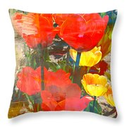 Tulip Abstracts Throw Pillow