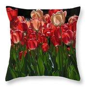 Tulip Bunch Throw Pillow