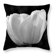 Tulip Bw Throw Pillow