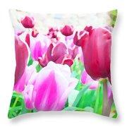 Tulip Delight Throw Pillow