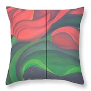 Tulip Diptych Throw Pillow
