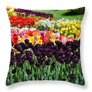 Tulip Field 1 Throw Pillow