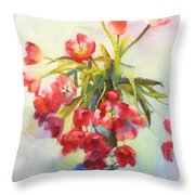 Tulip Fling Throw Pillow