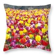 Tulip Flower Festival Art Prints Spring Throw Pillow