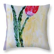 Tulip For You Throw Pillow