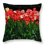 Tulip Forest Throw Pillow