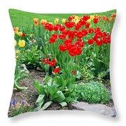 Tulip Gardenscape Throw Pillow