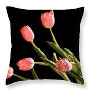 Tulip Happy Throw Pillow