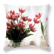 Tulip Throw Pillow by Jeanette Korab