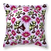 Tulip Kaleidoscope Under Glass Throw Pillow