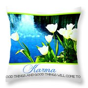 Tulip Karma Throw Pillow