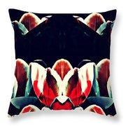 Tulip Panorama Throw Pillow