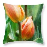 Tulip Quartet Throw Pillow