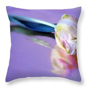 Tulip Reflected Throw Pillow