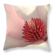 Tulip Tree Blossom Throw Pillow by Carol Groenen