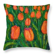 Tulip Twirl Throw Pillow