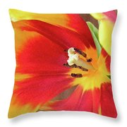 Tulip Warm Tones Throw Pillow