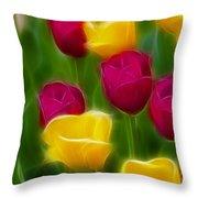 Tulips-6768-fractal Throw Pillow