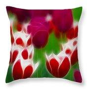 Tulips-6848-fractal Throw Pillow
