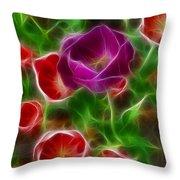 Tulips-6936-fractal Throw Pillow