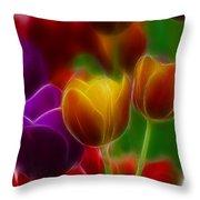 Tulips-7060-fractal Throw Pillow