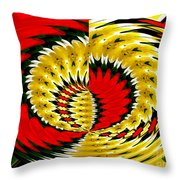 Tulips And Daffodils Polar Coordinates Effect Throw Pillow