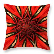 Tulips And Daffodils Under Star Glass Throw Pillow