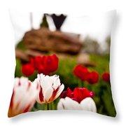Tulips Ani Tsalagi Throw Pillow